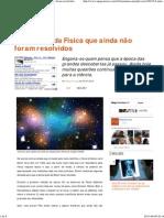 Megacurioso - 6 mistérios da Física que ainda não foram resolvidos