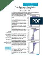 Panorama Económico Departamental - Noviembre 2011