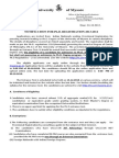 Notification for PhD Admission Sept 2013