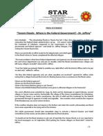 PressRelease-2013-Tenom Floods - Where is the Federal Govt -20 December 2013