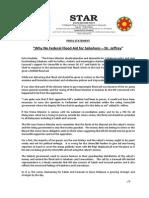 PressRelease-2013-Why No Federal Flood Aid for Sabahans- 09 December 2013