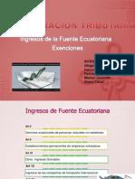 Ingresos de La Fuente Ecuatoriana