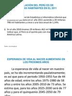 POBLACIÓN DEL PERÚ ES DE 29 MILLONES 798