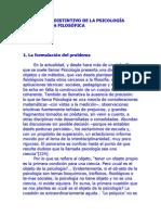 EL CARÁCTER DISTINTIVO DE LA PSICOLOGÍA