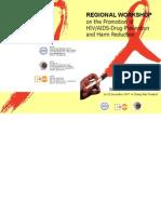Regional Workshop on HIV-AIDS-Drug Prevention and Harm Reduction