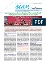 Sep-Oct 2007, Exploring New Frontiers on Sexual and Reproductive Health and Rights for Women and Youth in Asia-Pacific