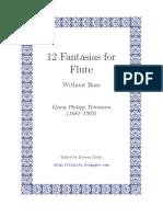 Telemann - 12 Fantasias for solo Flute