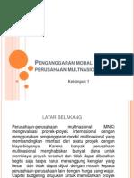 Penganggaran Modal Perusahaan Multinasional