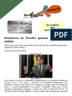 Senadores da Paraíba gastam quase R$ 1 milhão