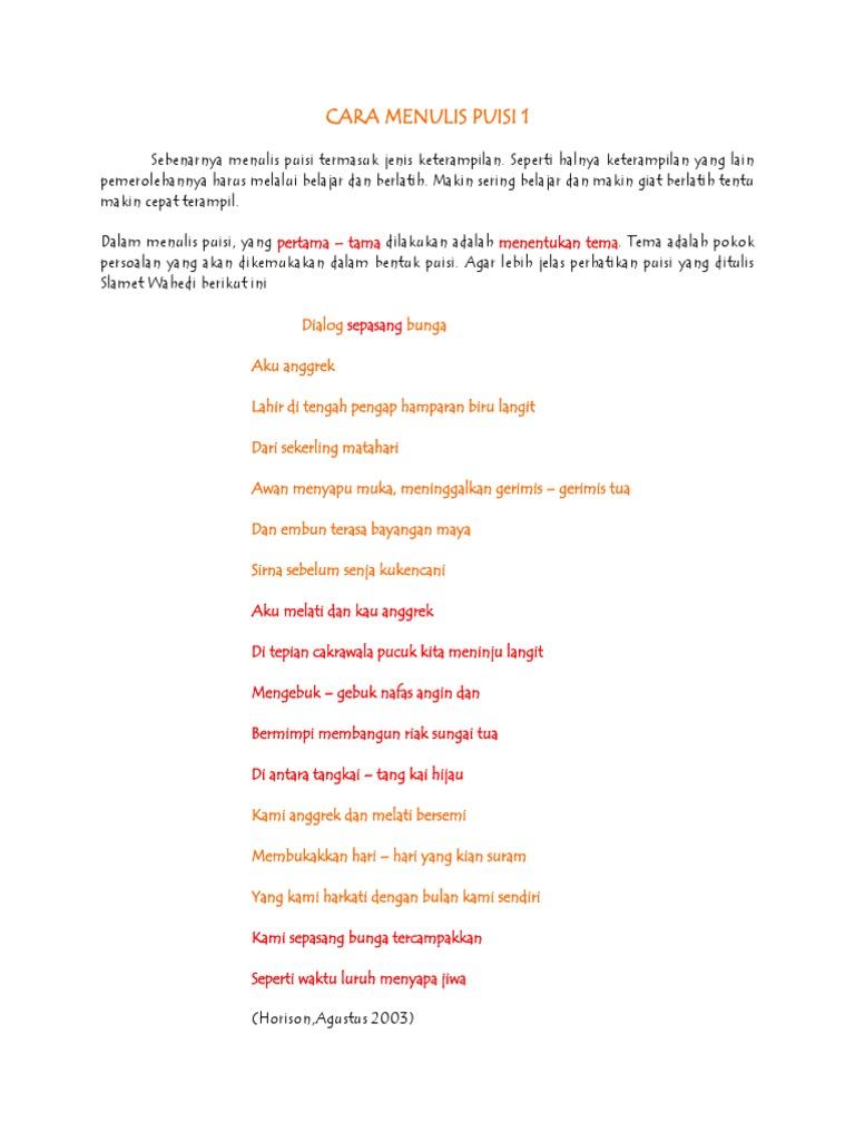 Cara Menulis Puisi 1 Docx