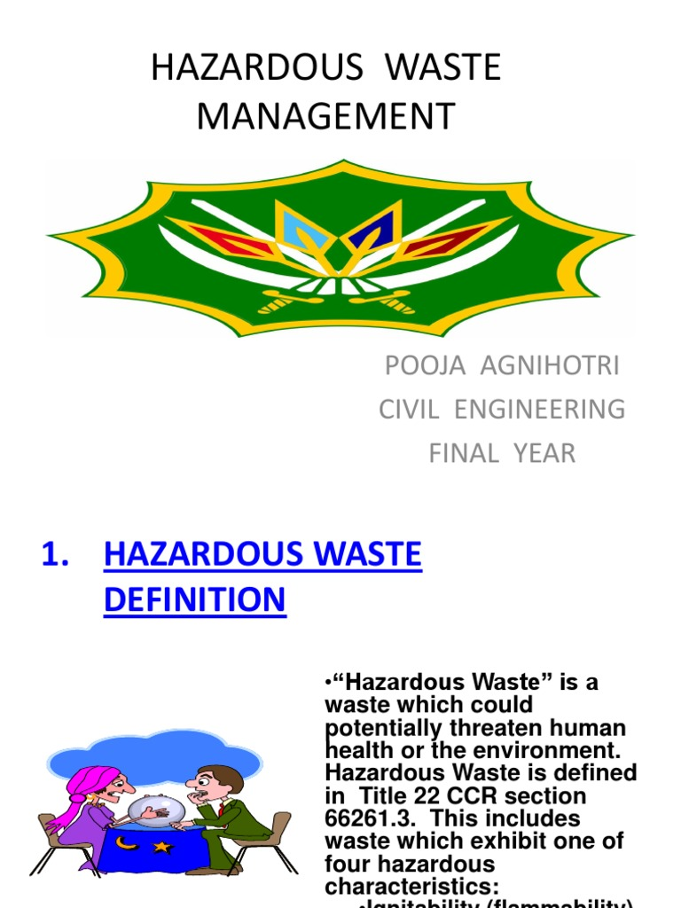 hazardous chemical waste management | explosive material | hazardous