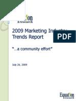 EQR Marketing Rapport 2009