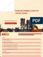 Ethanol plant,Distillation column,Solvent Distillation