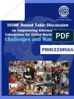 Proceedings of ISSME Round Table Discussion on Empowering Informal Sector Enterprises for Global 
