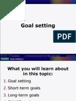 Powerpoint C - Goal Setting
