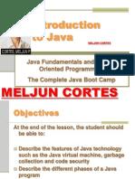 MELJUN CORTES JAVA Lecture Intro to Java