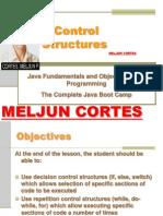 MELJUN CORTE JAVA Lecture Controls Structures