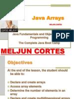 MELJUN CORTES JAVA Lecture Arrays