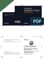 Lenovo Idea Pad Y550 User Guide V1.0