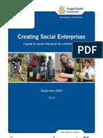 Creating Social Enterprises -  A guide to social enterprise for university staff