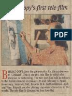 Bharat Gopy 's First Tele Film