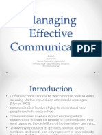 Managing Effective Communication