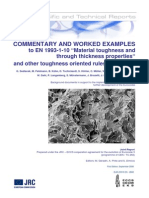 """WORKED EXAMPLES to EN 1993-1-10 """"Material toughness and through thickness properties"""""""