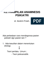 KETRAMPILAN ANAMNESIS PSIKIATRI