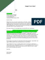 CoverLetterSample for Internships Doc