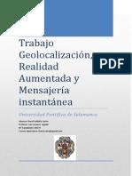 Trabajo I - Mensajería Instantanea, Realidad Aumentada y Geolocalización - David Saldaña Zurita