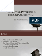 Sequential Patterns the GSP Algorithm