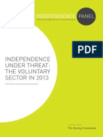 Independence Under Threat the Voluntary Sector in 2013