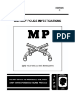 Military-Police-MP 0018 Investigations Subcourse -1994