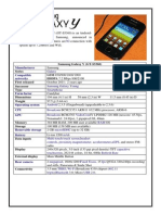 Samsung Galaxy Product Profile