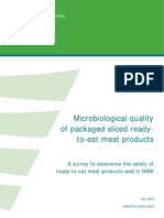 Microbiological Quality Smallgoods Ready to Eat