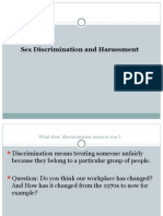 Sex Discrimination and Sexual Harassment