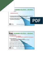 Economia Politica i - Praticas - Aula 1 - 2013-2014
