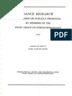 1991 Dance Research