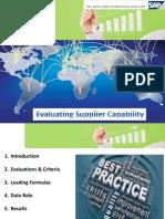 SAP ERP Vendor Evaluation - PPT