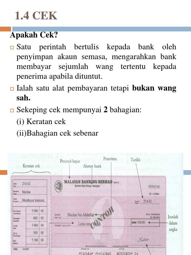 Tempoh Sah Laku Cek Affin Bank