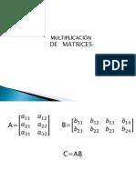 Multiplicación de matrices