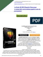 CorelDRAW Graphics Suite X6 2012 Español Descargar Programa