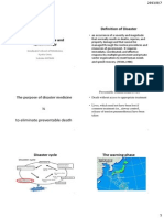 Disaster Medicine and Epidemiology