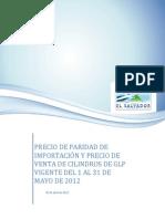 Precio Ppi y Precios de Mercado-mayo 2012