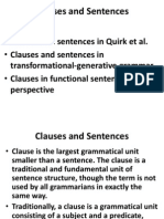 Clauses and Sentences