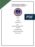 Clasificacion Del Presupuesto Grupo 6