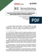 Gestão de Recursos Públicos - orientação para resultados e a