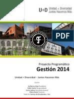Proyecto Programatico Gestion 2014 UnidadDiversidad