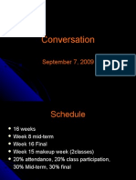Conversation Outline 1