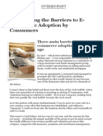 Barriers to E-commerce Adoption by Consumers